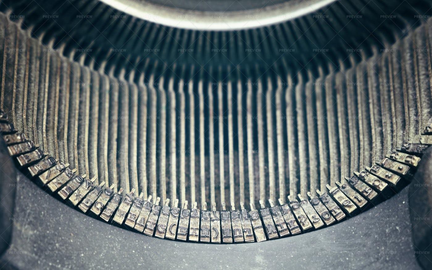 Old Antique Typewriter: Stock Photos