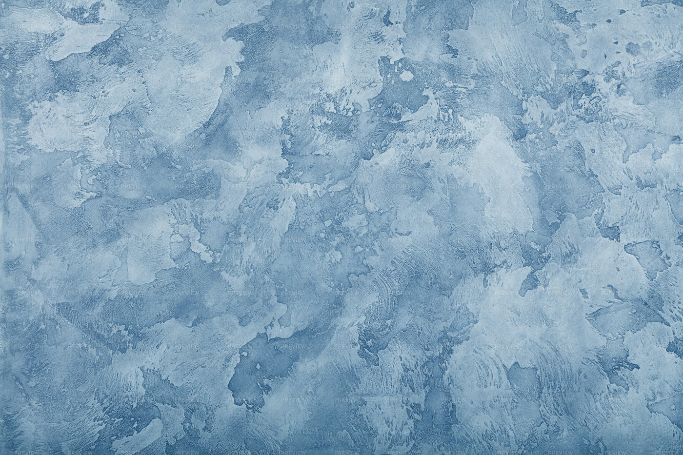 Blue Painted Plaster Wall: Stock Photos