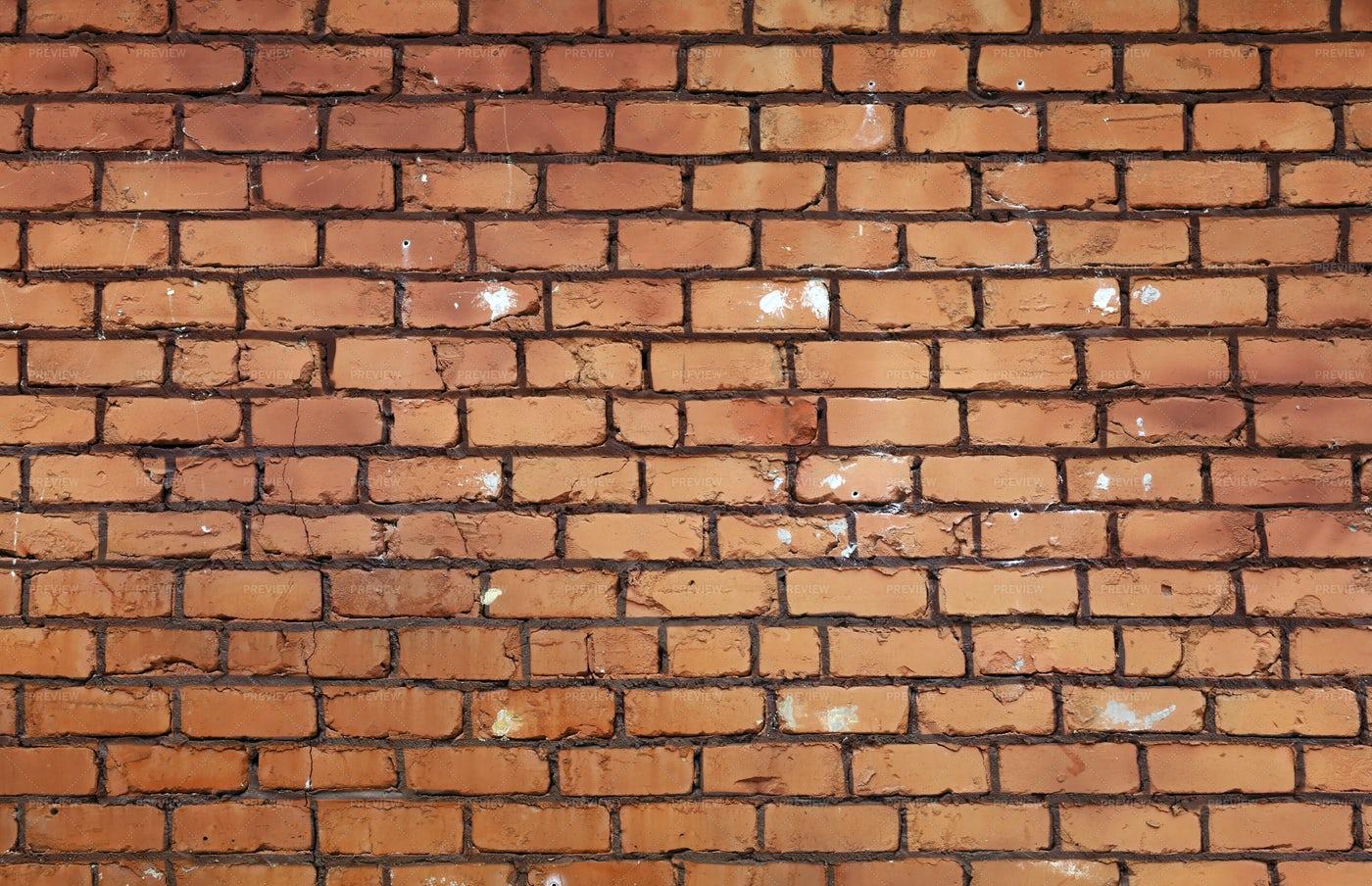 Rough Brown Brick Wall: Stock Photos