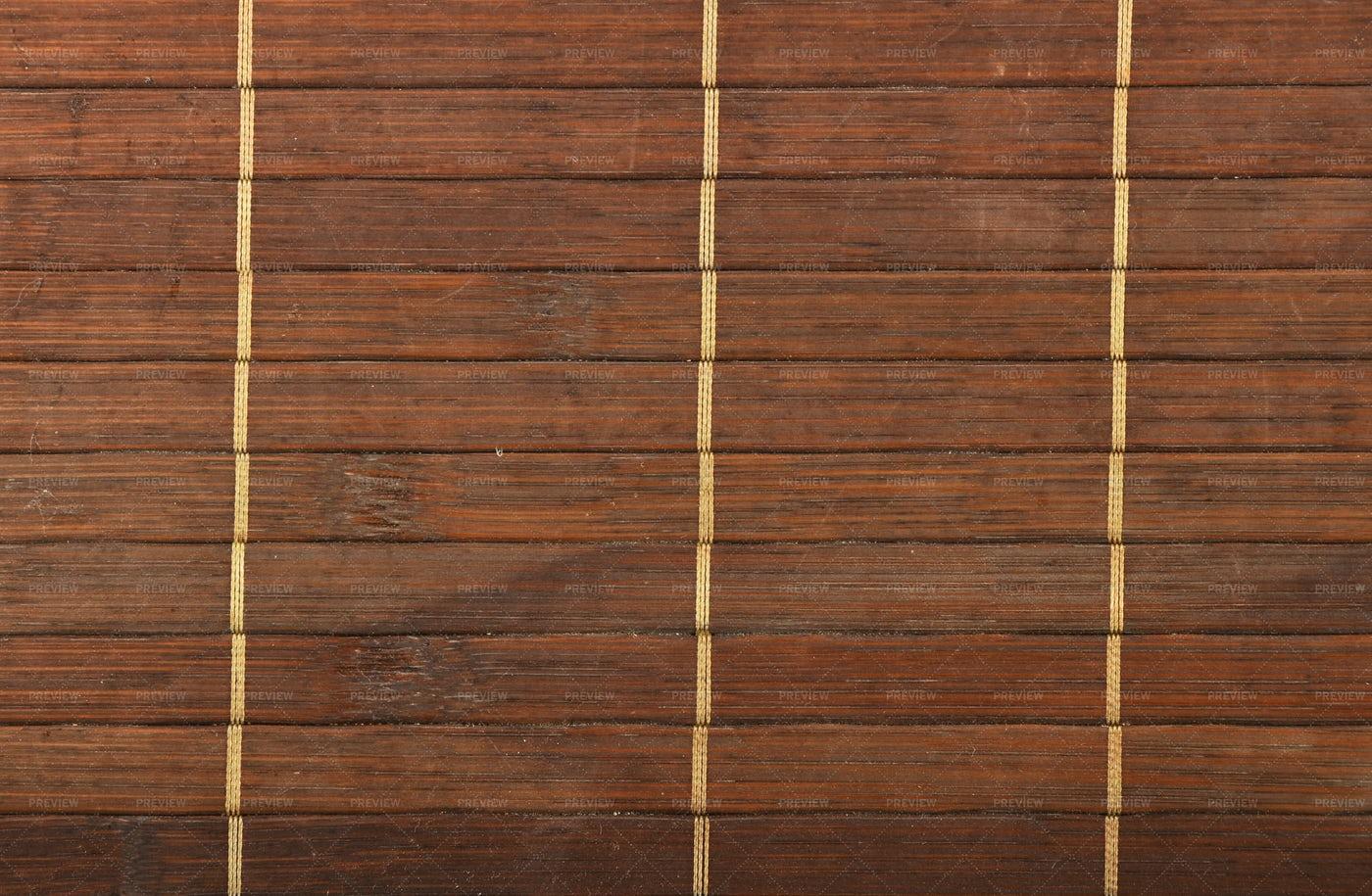 Brown Bamboo Mat: Stock Photos