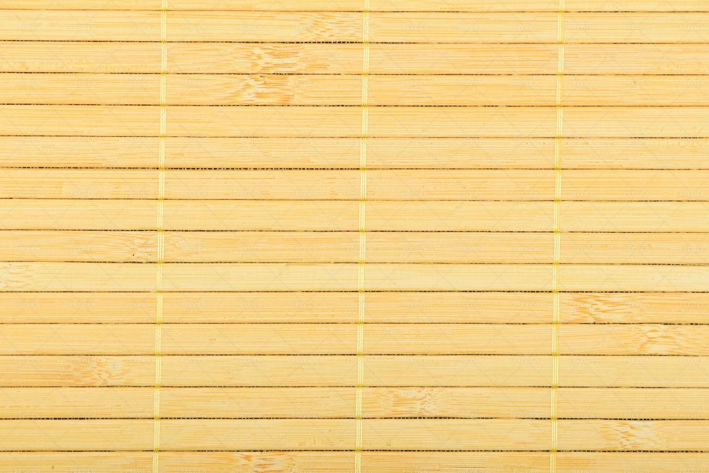 Bamboo Wood Mat: Stock Photos