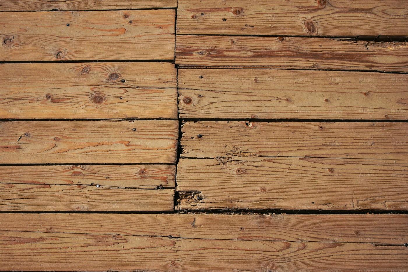 Cracks In Wooden Panels: Stock Photos