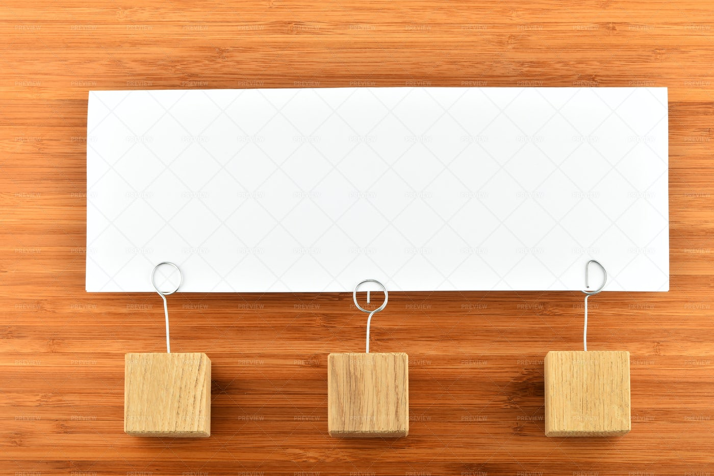 Paper Note With Three Holders: Stock Photos