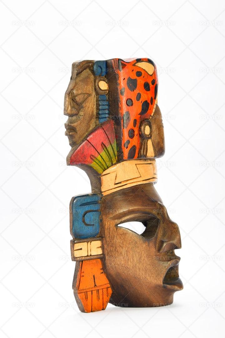 An Aztec Mask: Stock Photos