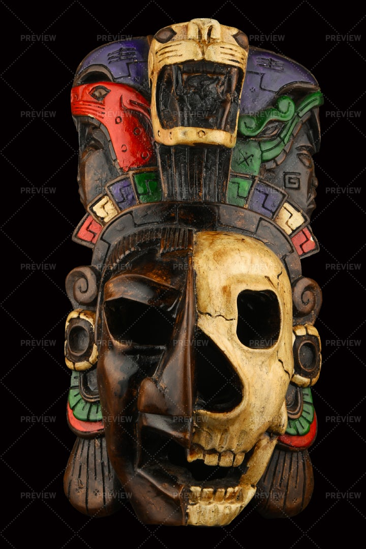 Mexican Ceramic Painted Mask: Stock Photos