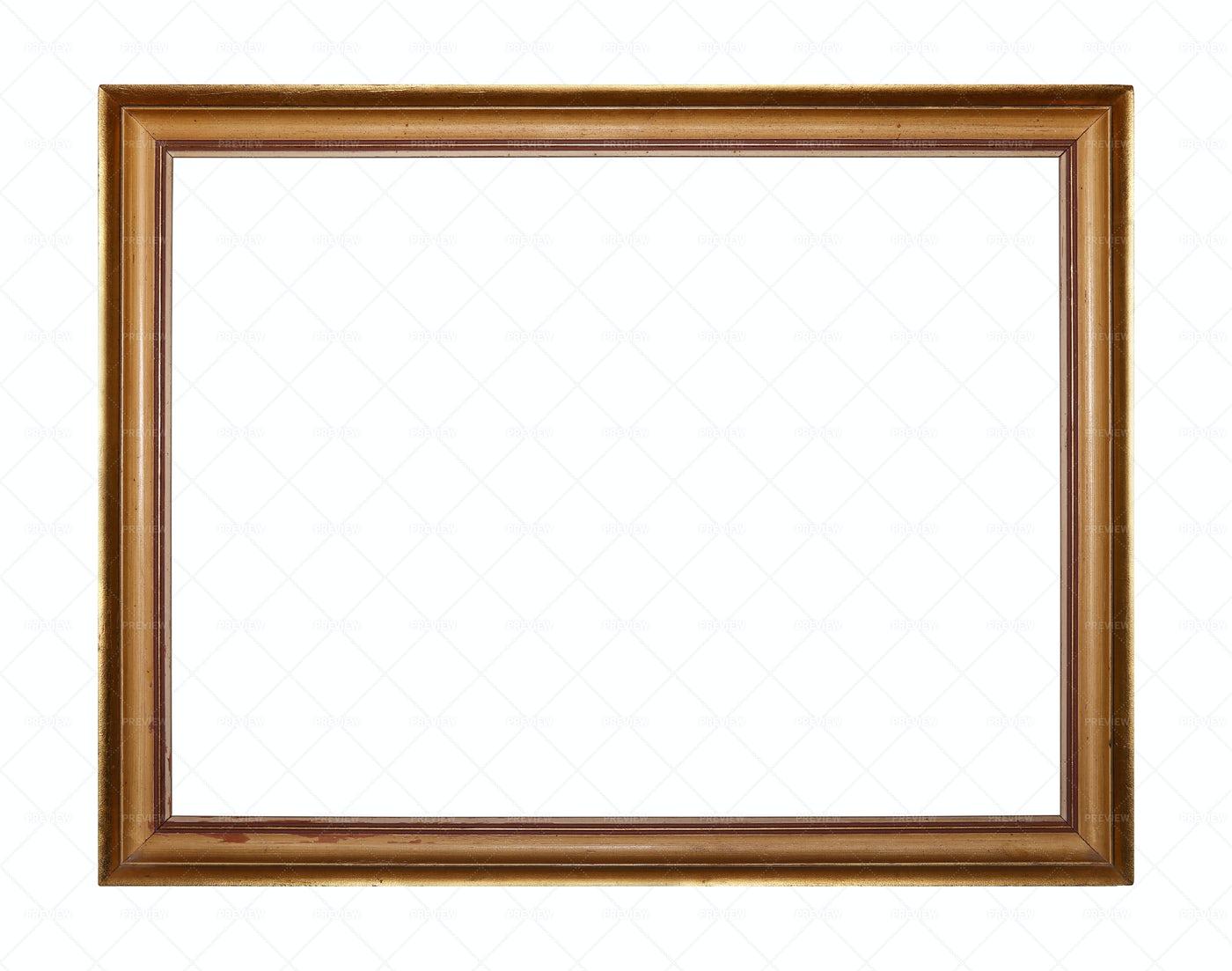 Golden Square Photo Frame: Stock Photos