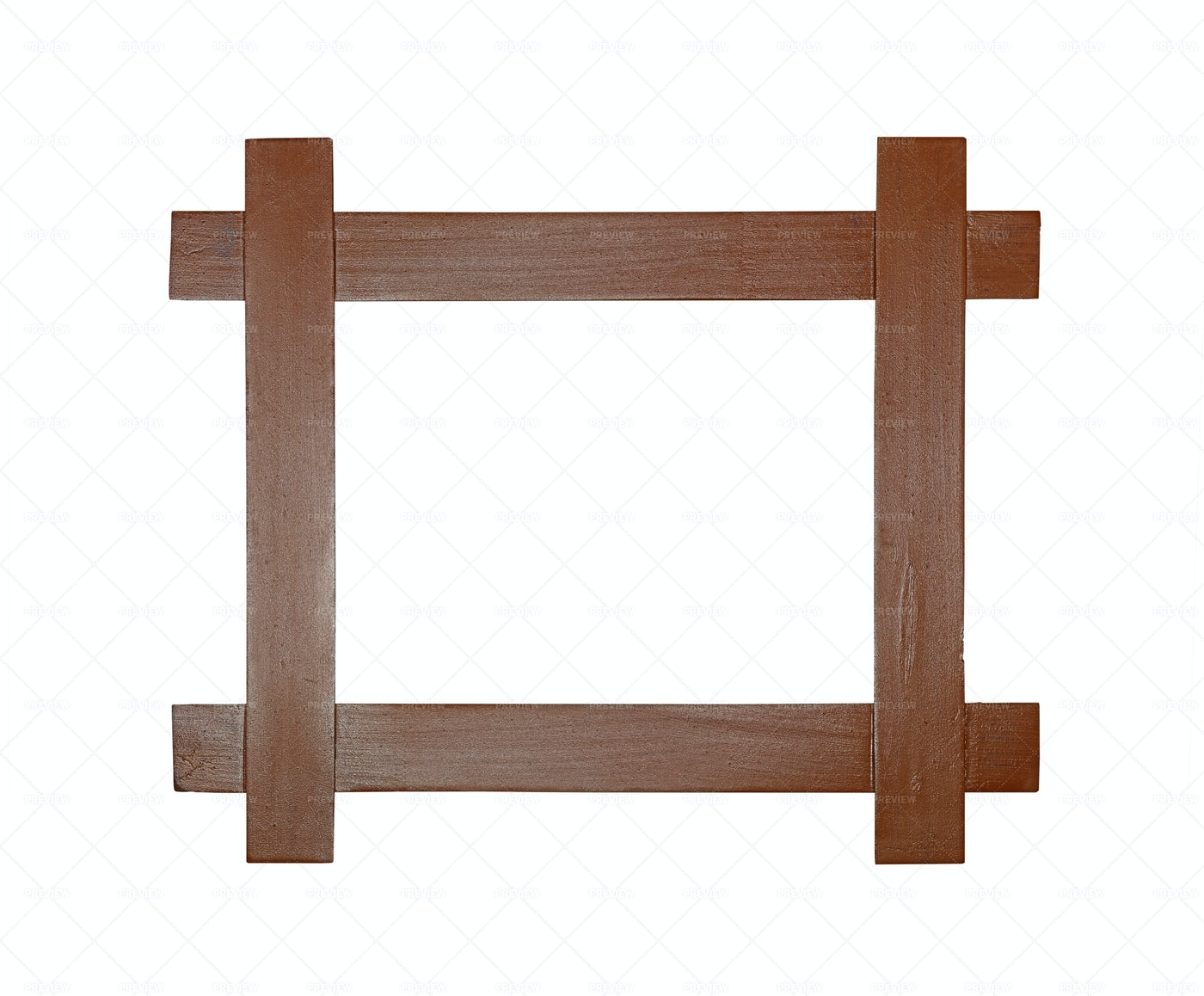 Crossed Wooden Photo Frame: Stock Photos