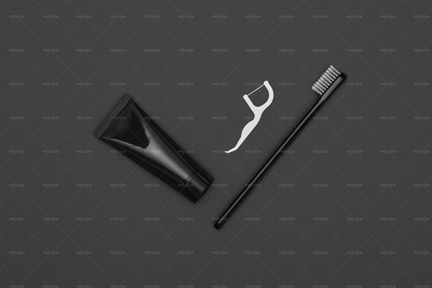 Black Dental Kit: Stock Photos
