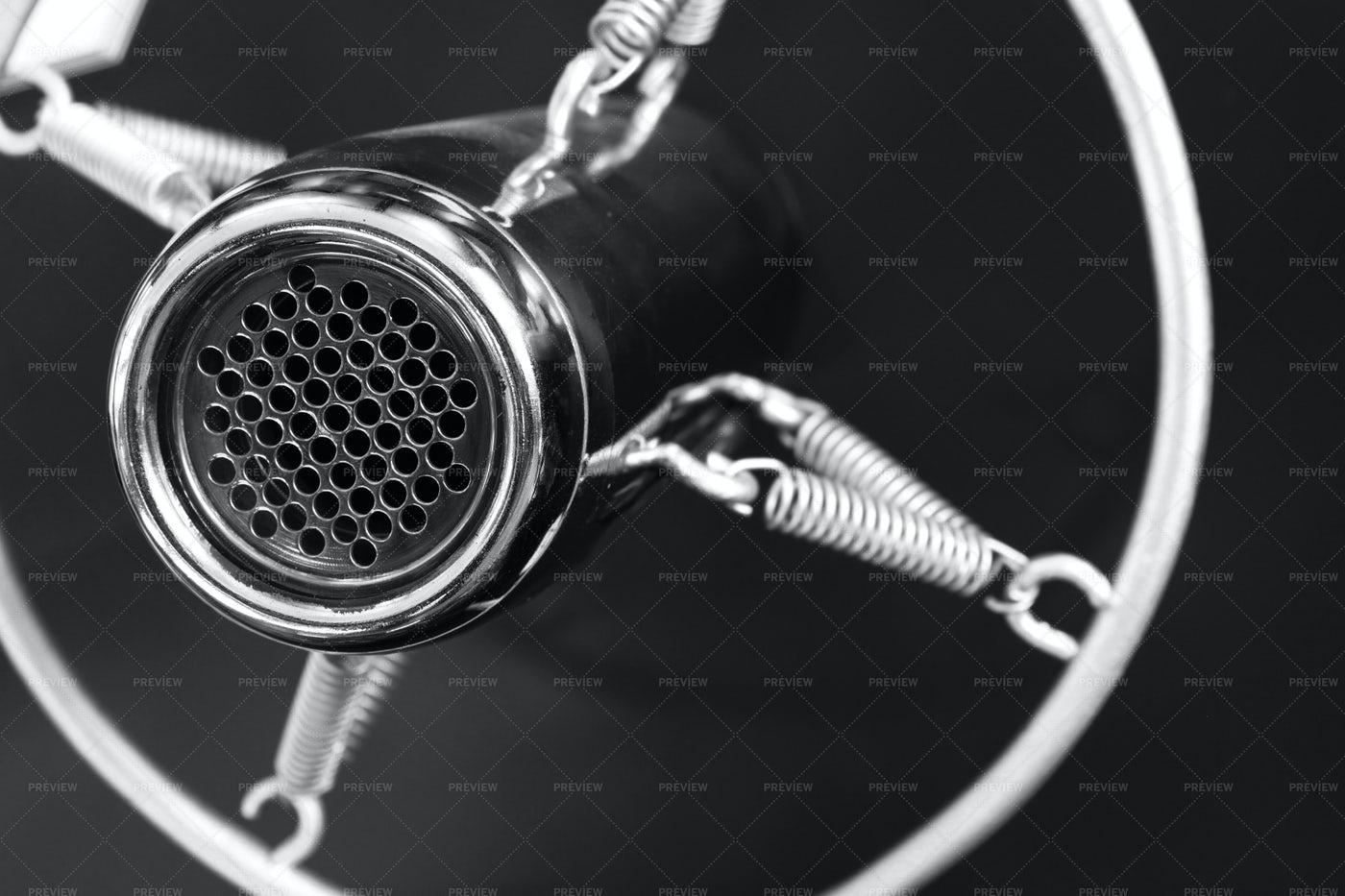 Antique Studio Microphone: Stock Photos