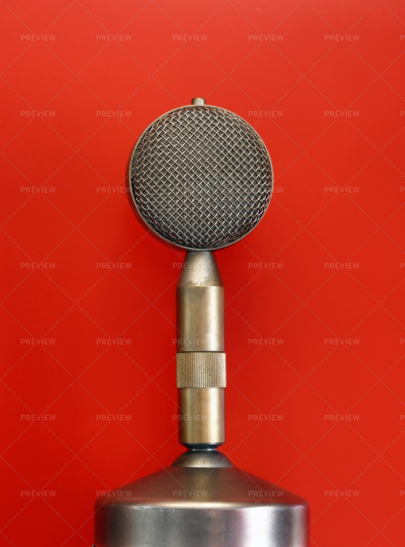 Vintage Metal Microphone: Stock Photos