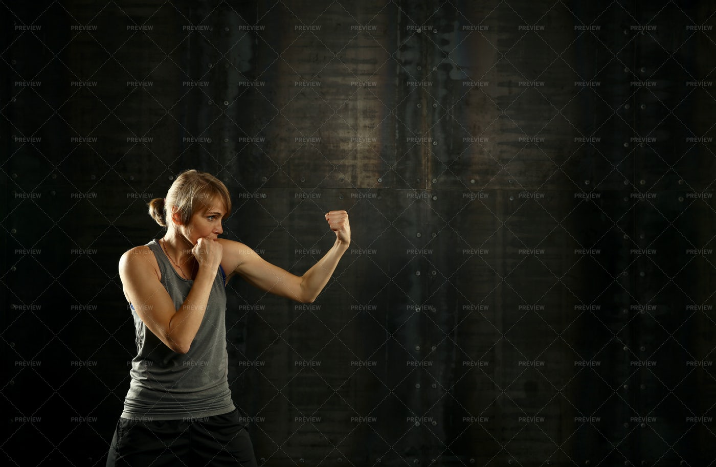 Taking A Fighting Stance: Stock Photos