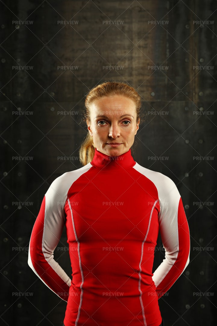 Portrait Of Athletic Woman: Stock Photos