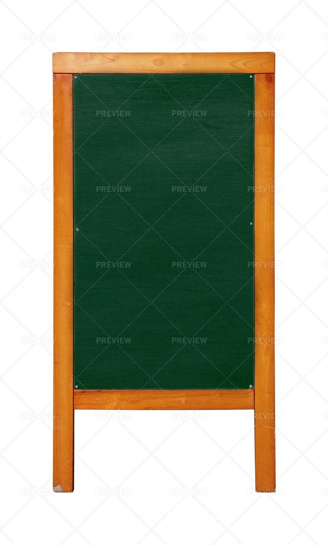 Green Standing Chalkboard: Stock Photos