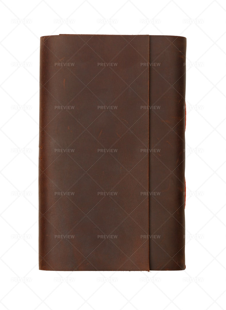 Leather Cover Notebook: Stock Photos