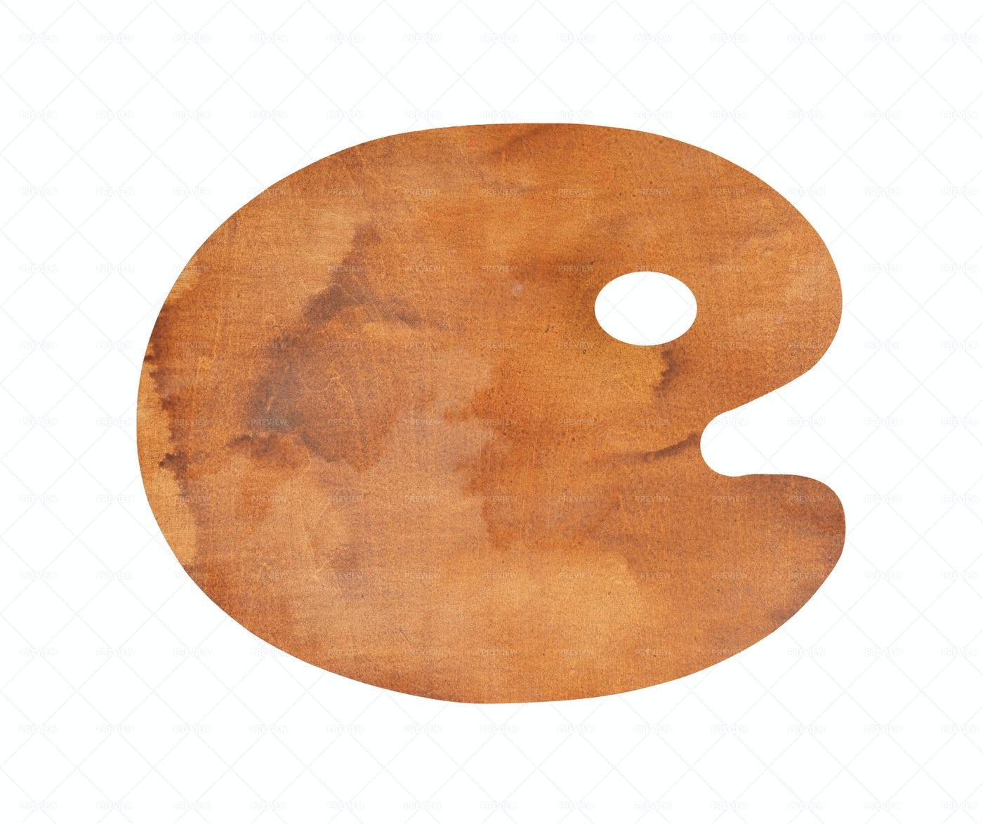 Wooden Paint Palette: Stock Photos
