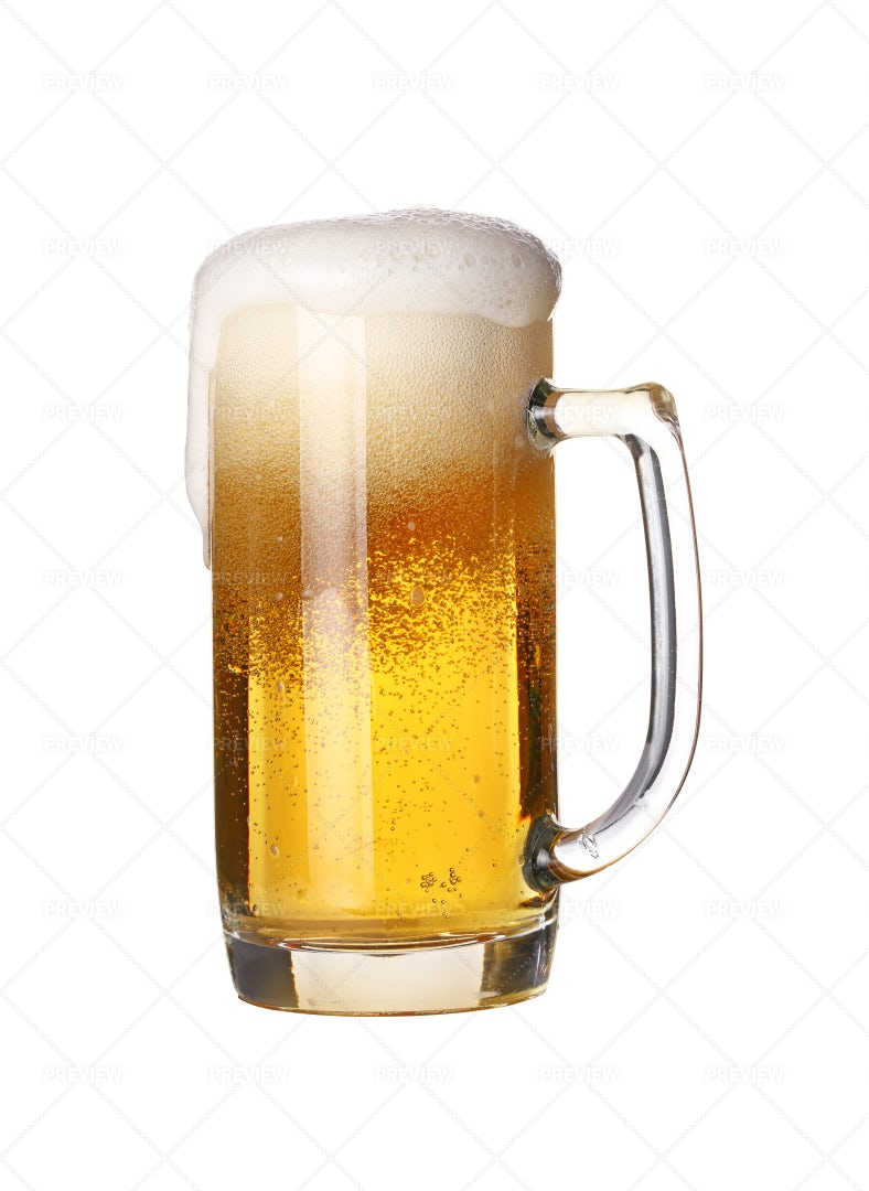 Beer Froth Spilling Over: Stock Photos