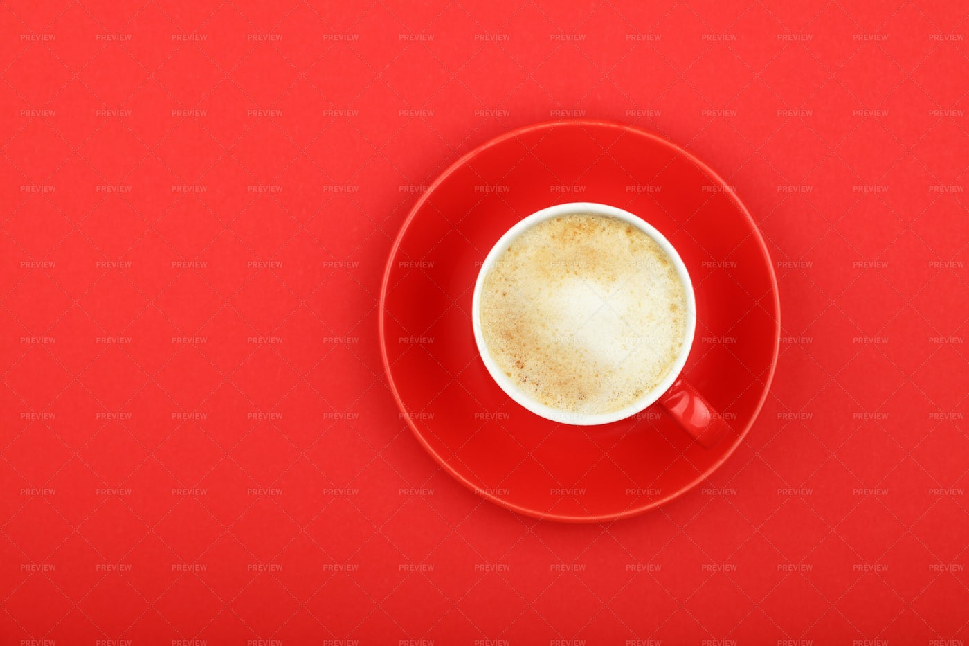 Coffee In Red Cup: Stock Photos