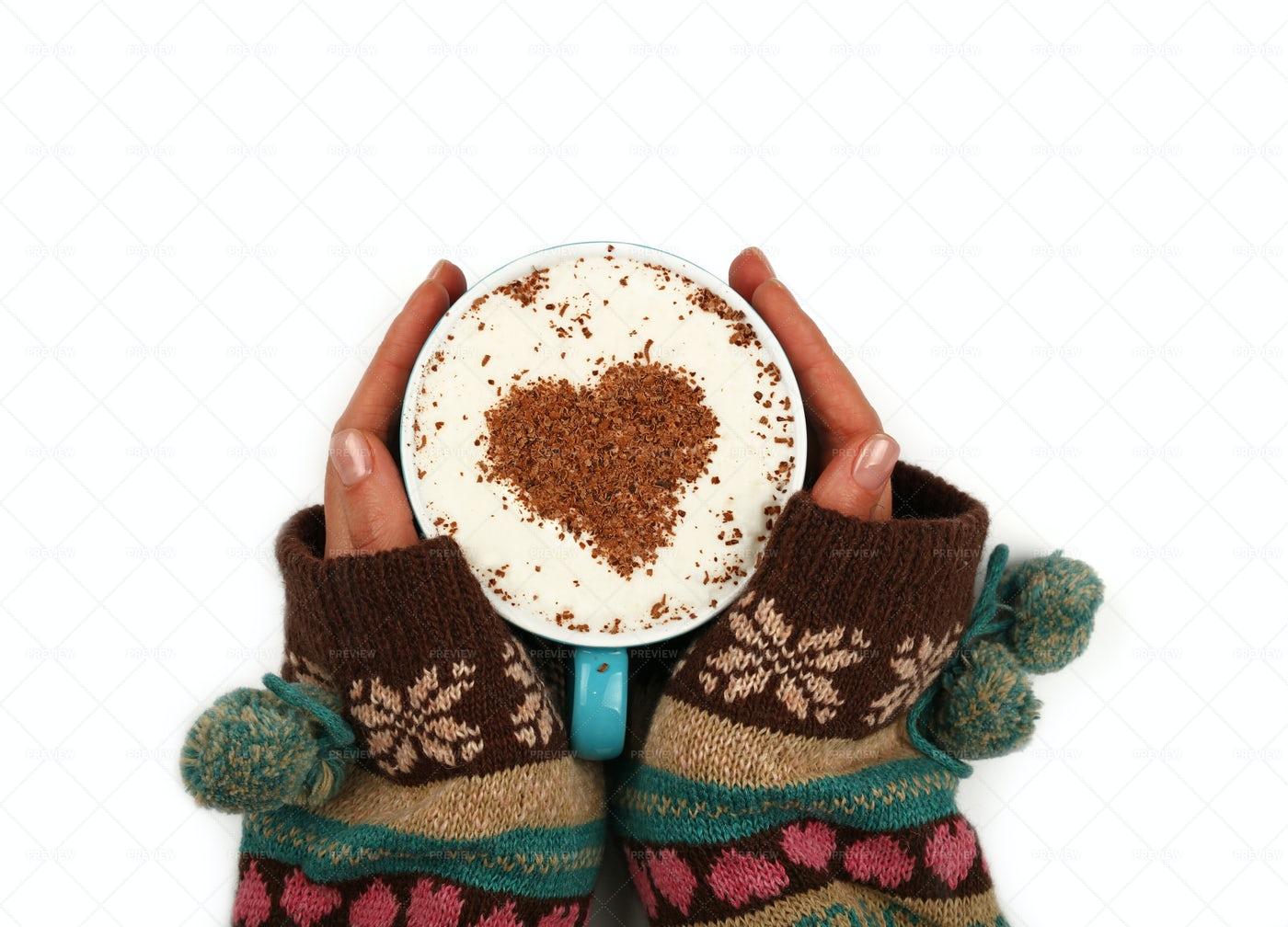 Holding Warm Coffee: Stock Photos