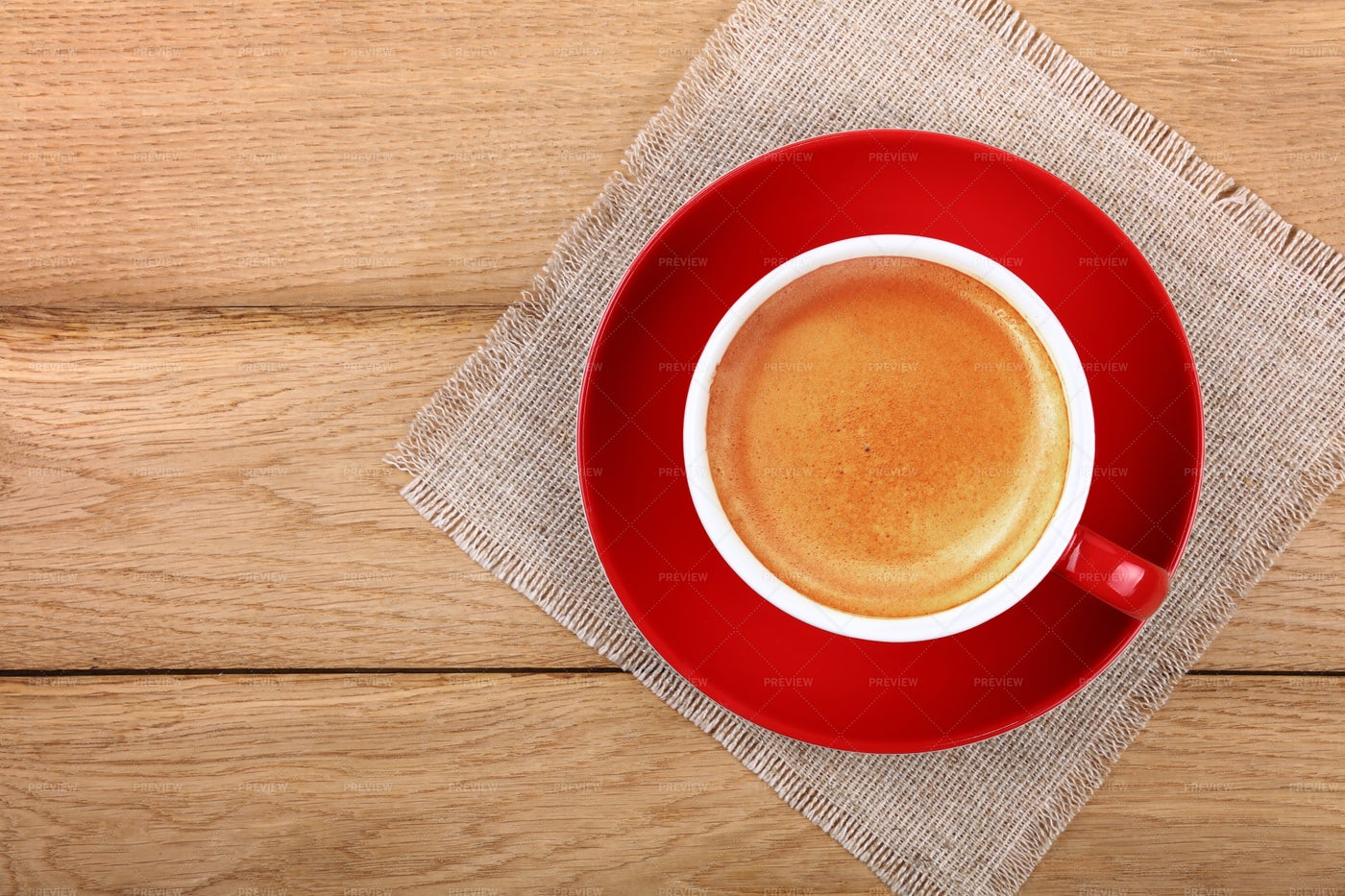 Red Cup Of Espresso Coffee: Stock Photos
