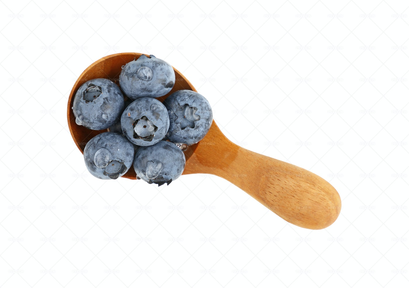 A Spoon Of Blueberries: Stock Photos