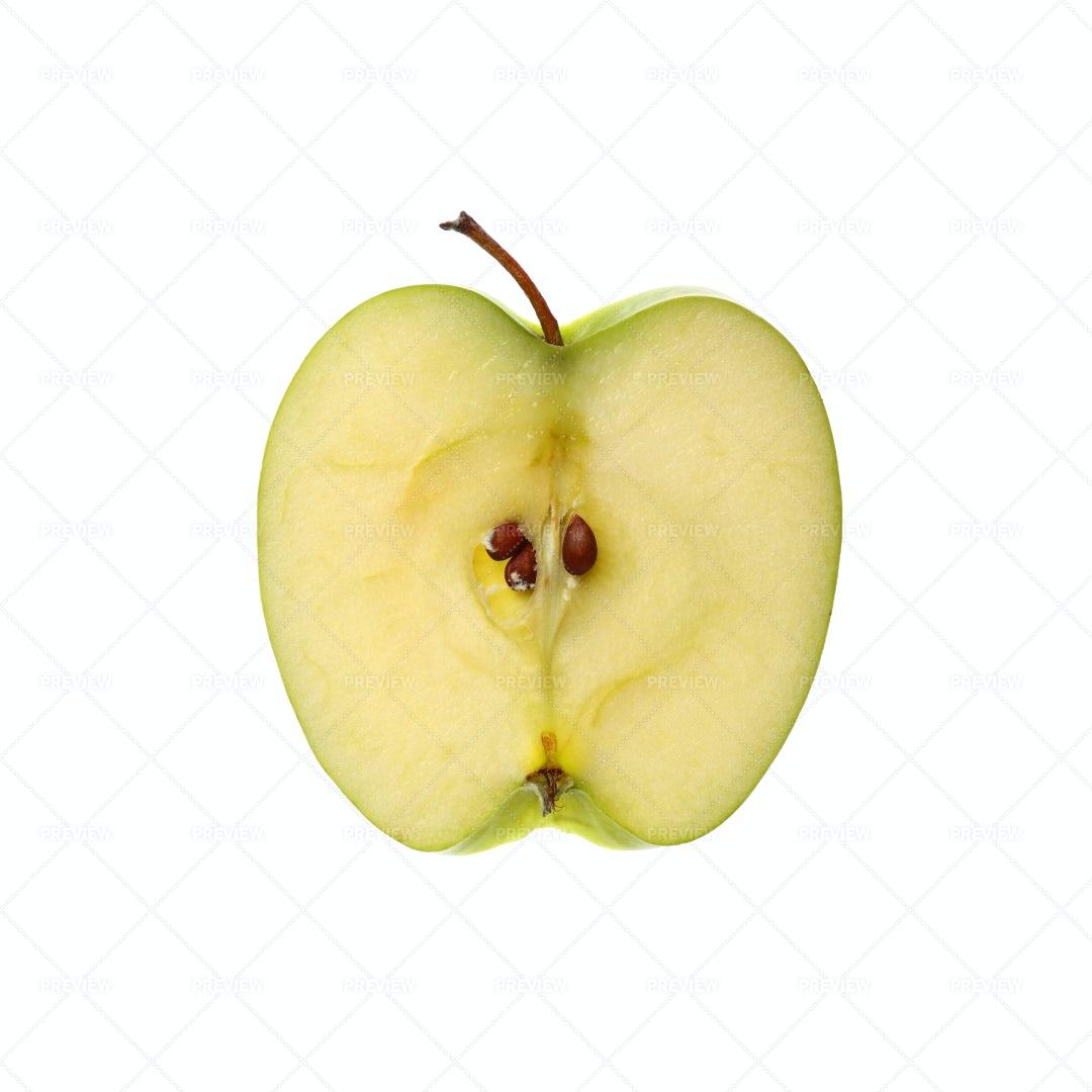Slice Of Green Apple: Stock Photos