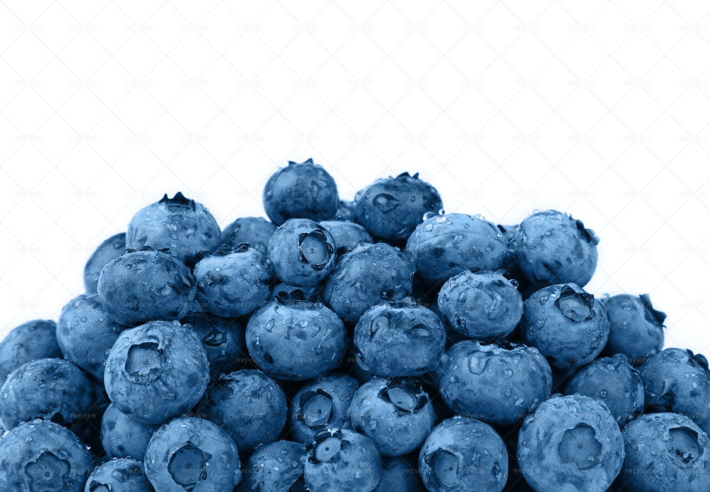 Washed Blueberries: Stock Photos
