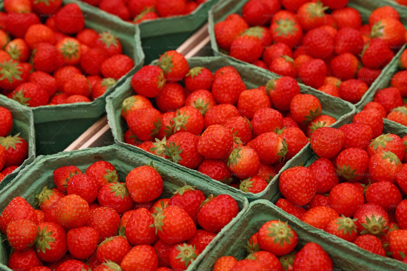 Strawberries For Sale: Stock Photos