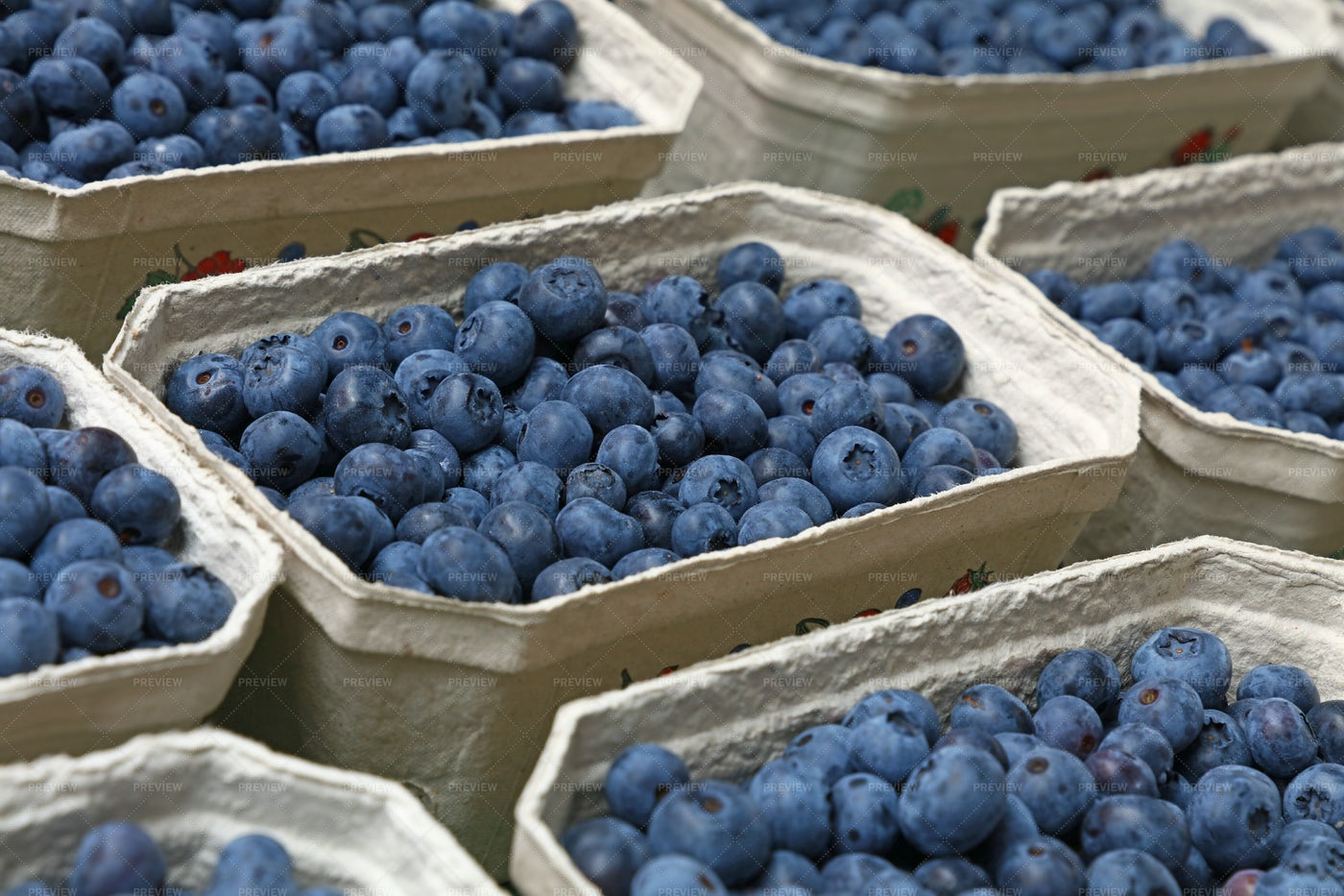 Fresh Blueberries For Sale: Stock Photos