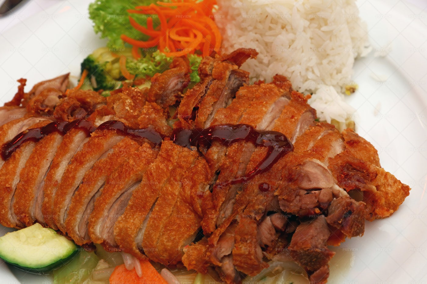Duck Chop Suey With Rice: Stock Photos