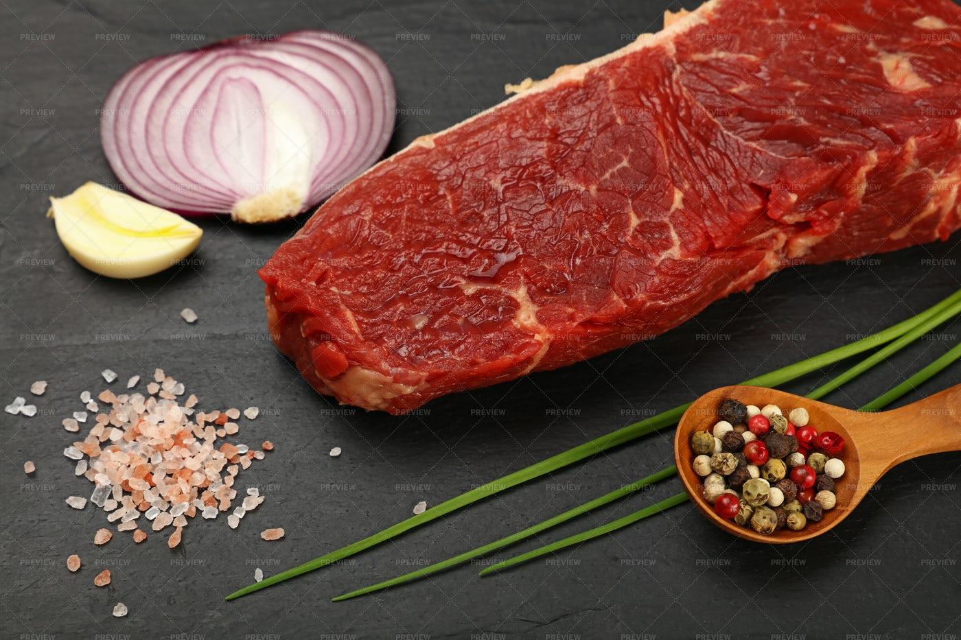 Raw Beef Steak: Stock Photos