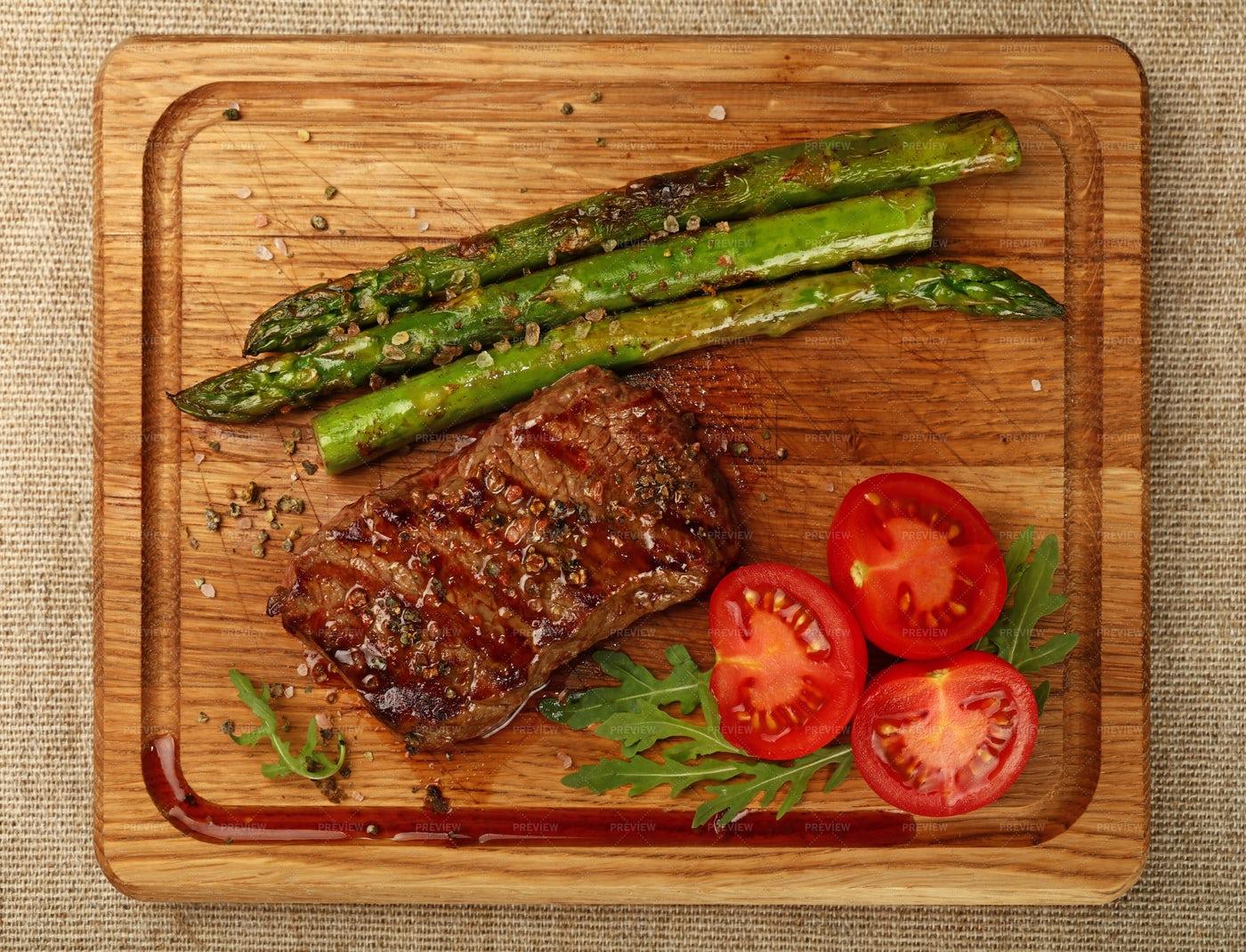 Grilled Beef Steak Dinner: Stock Photos