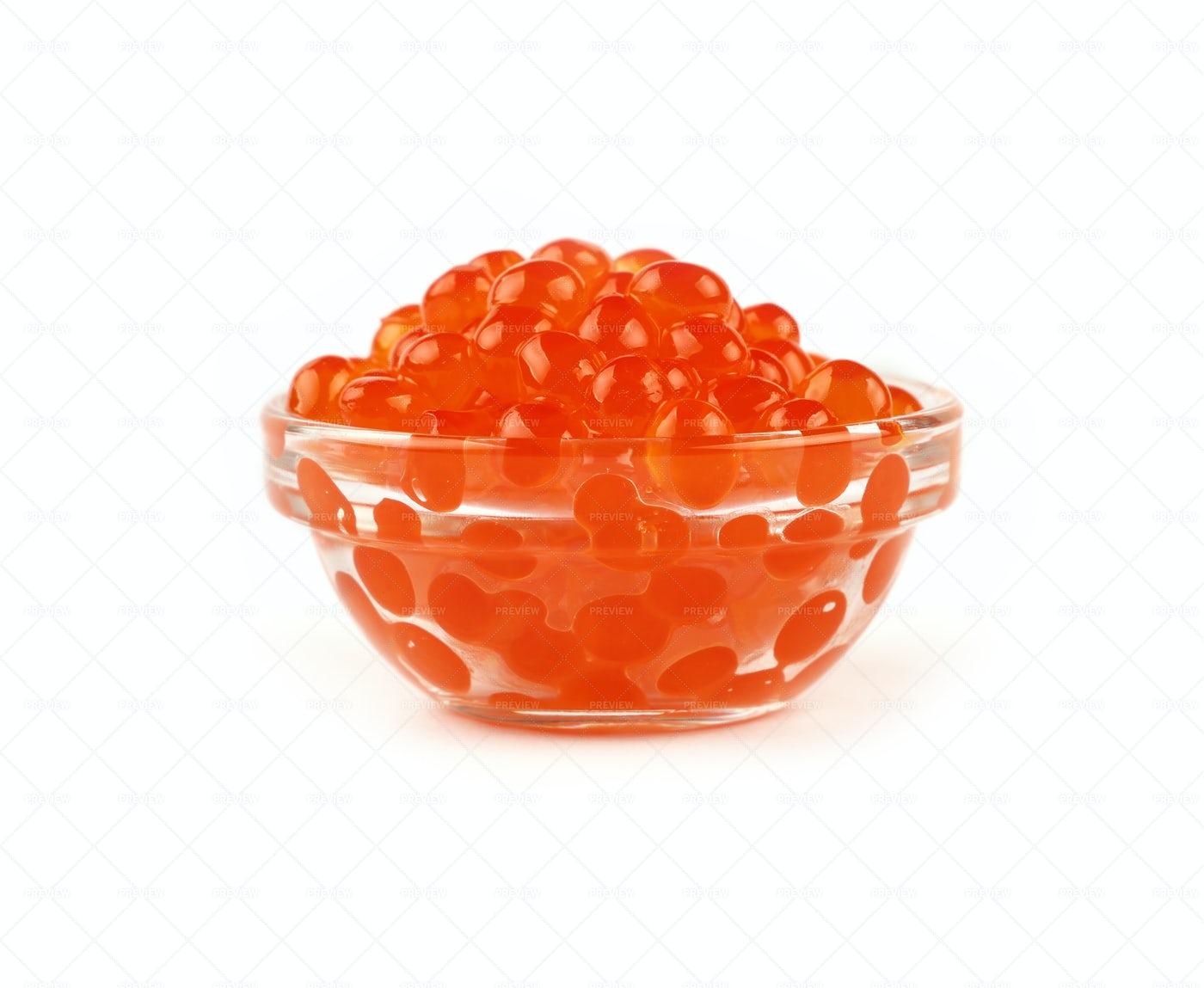 Red Salmon Caviar: Stock Photos