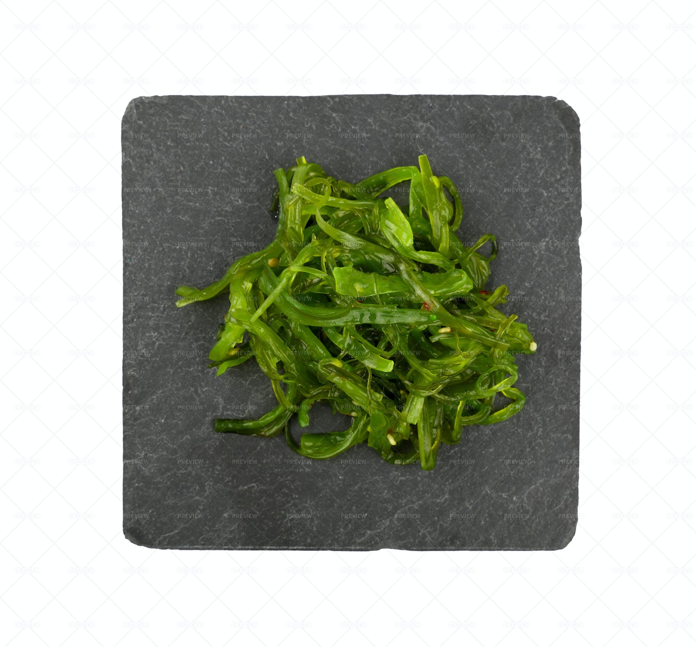 Green Wakame Seaweed: Stock Photos