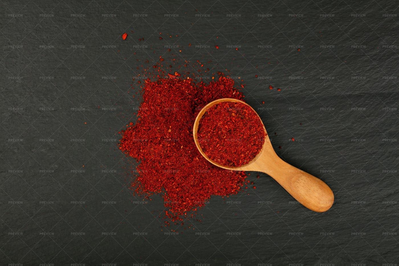 Sun-Dried Tomato Powder: Stock Photos