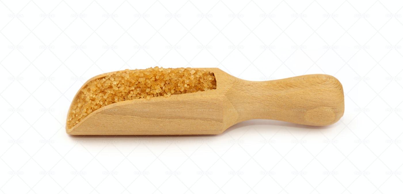Scoop Of Brown Sugar: Stock Photos