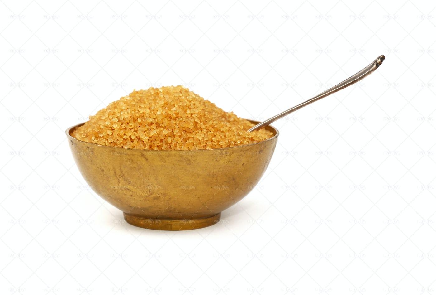 Bowl  Of Brown Sugar: Stock Photos