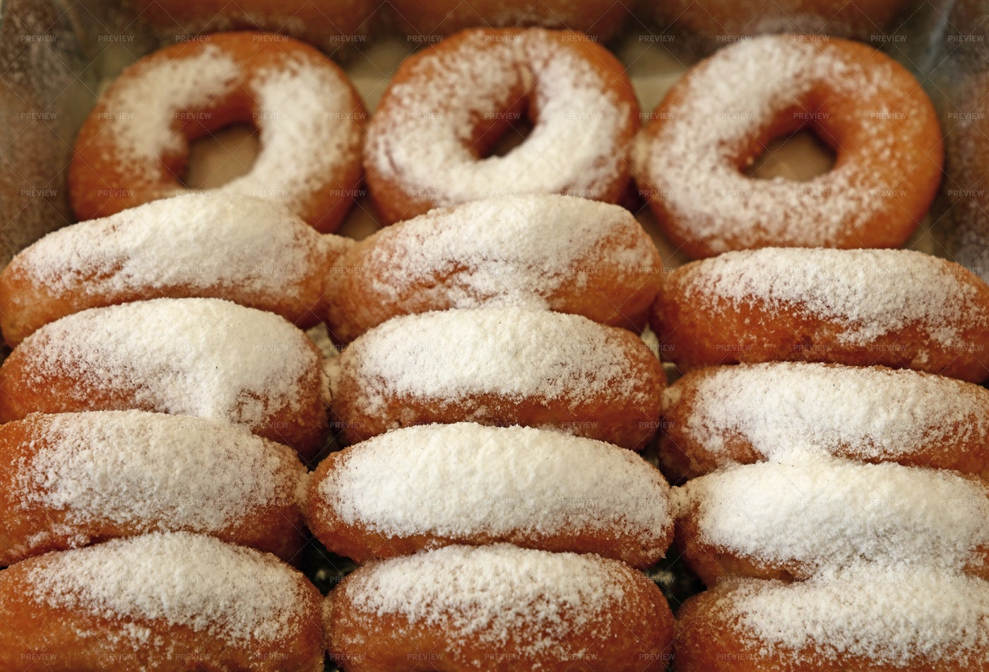 Ring Donuts With Sugar: Stock Photos