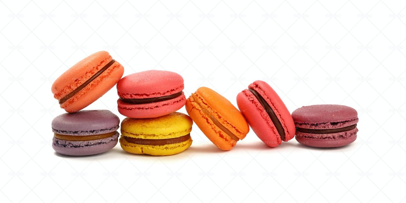 Colorful Macaron Cookies: Stock Photos