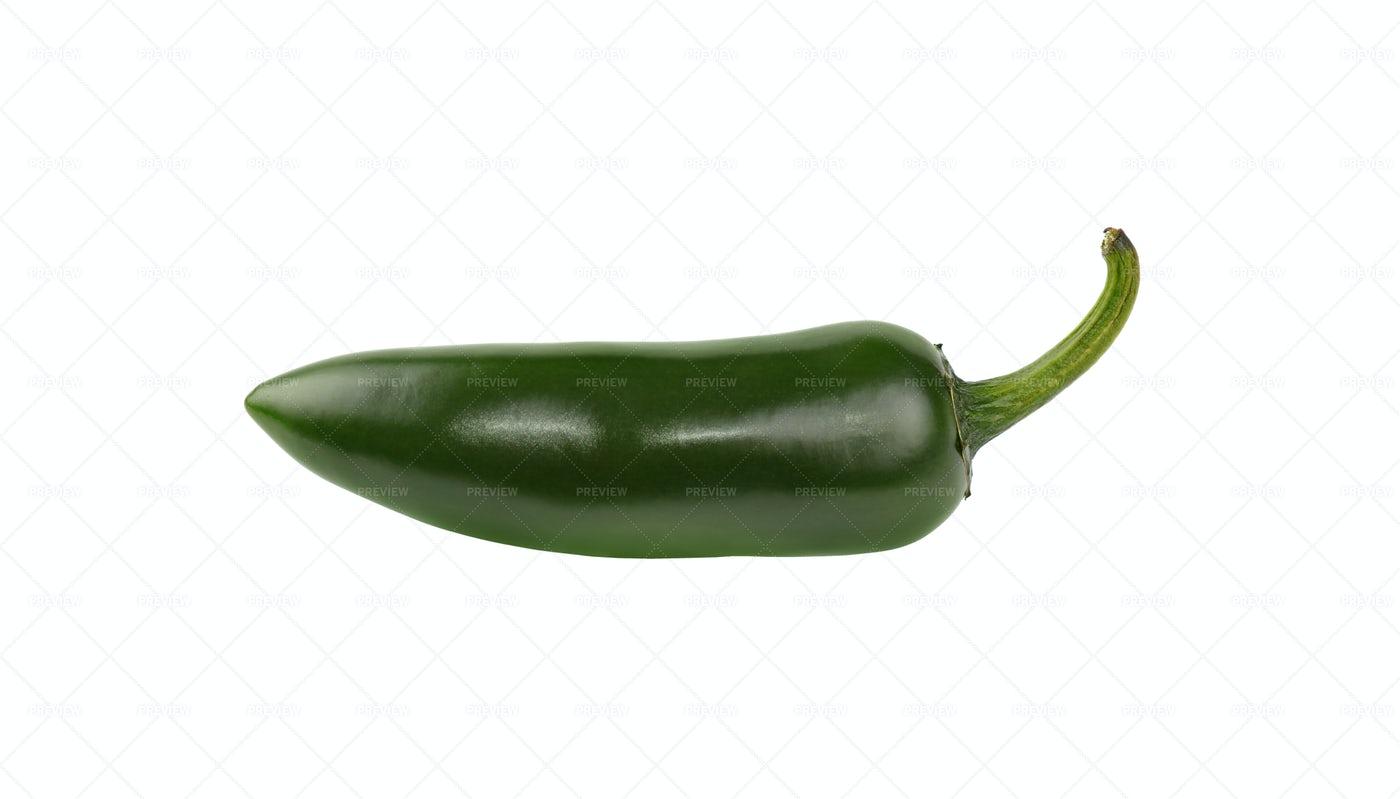 Green Jalapeno Pepper: Stock Photos