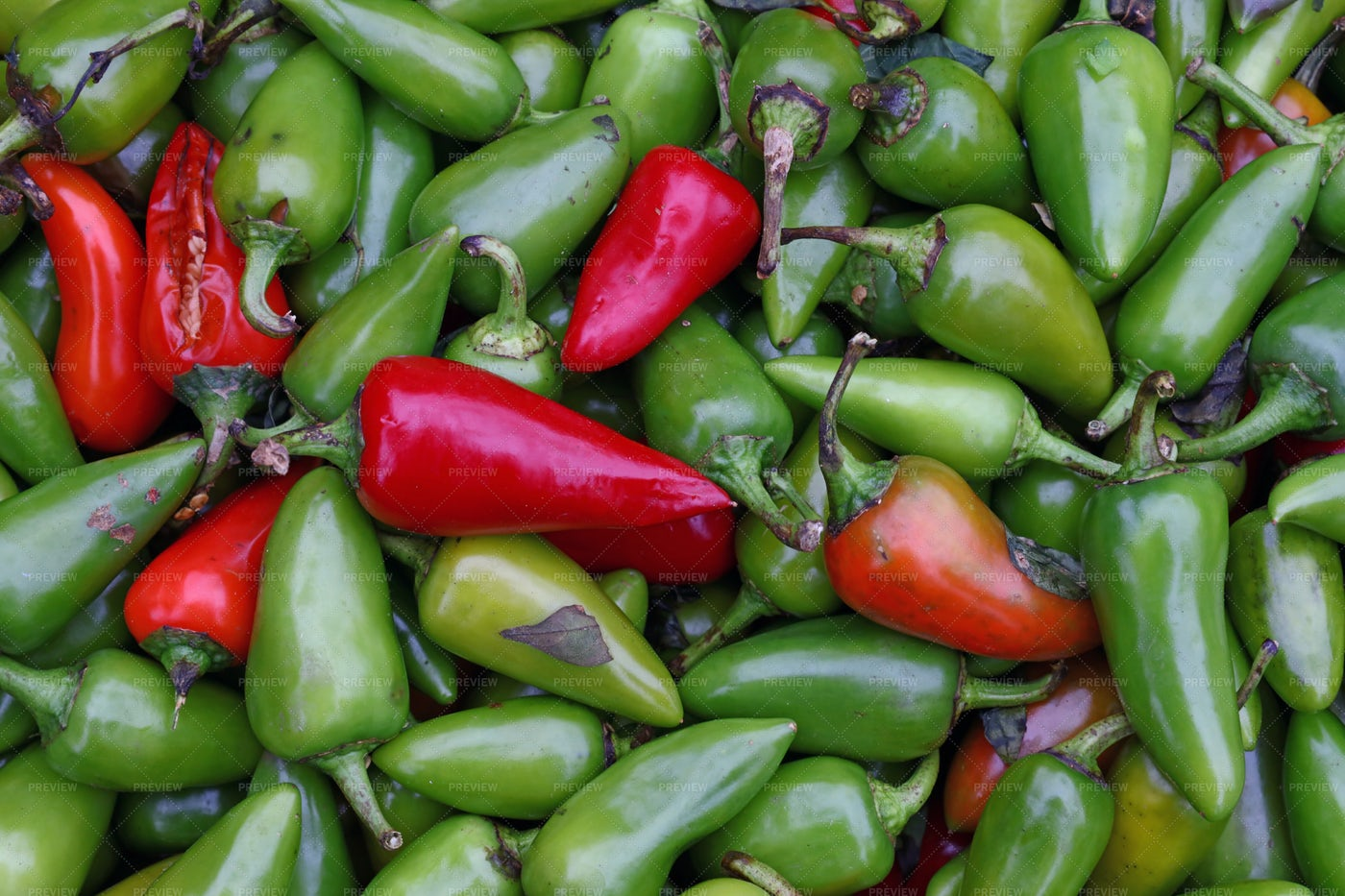 Hot Jalapeno Peppers: Stock Photos