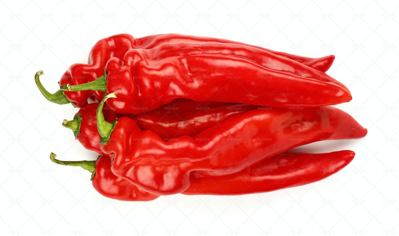 Red Paprika Peppers: Stock Photos