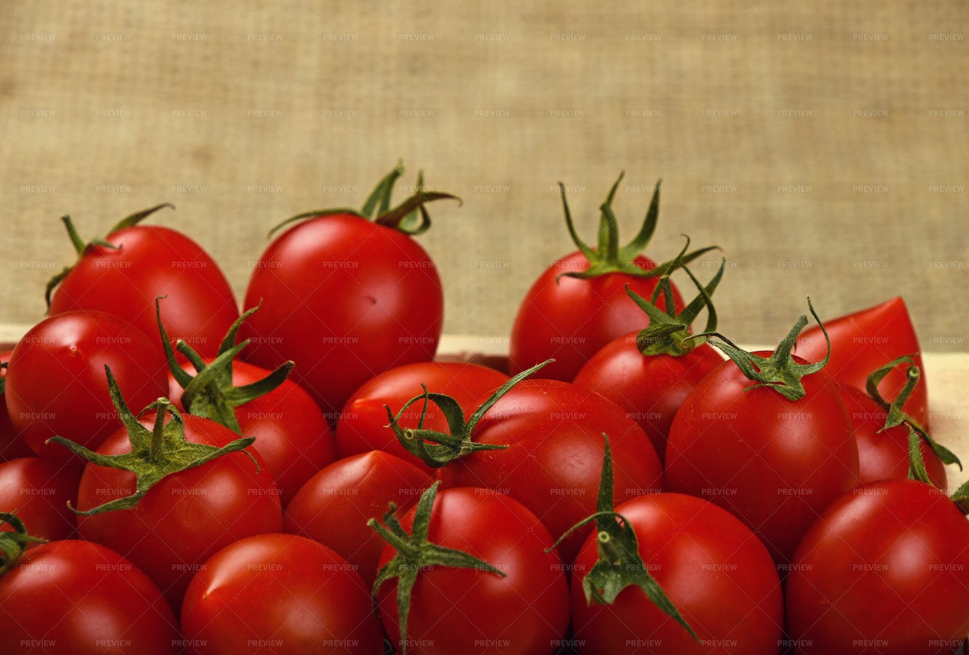 Tomatoes In Wooden Box: Stock Photos