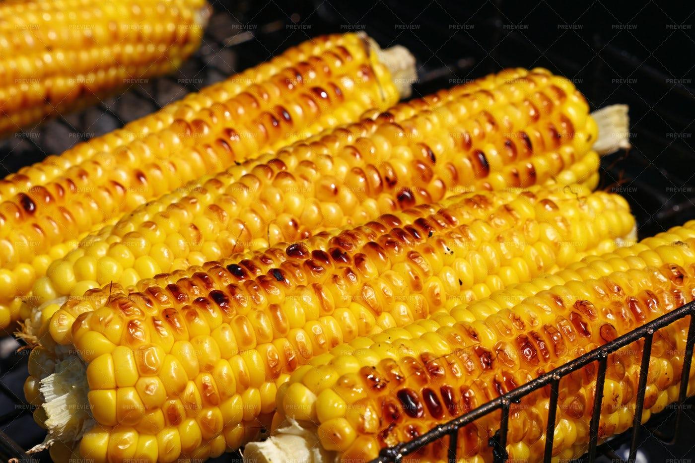 Cooked Corn Cobs: Stock Photos