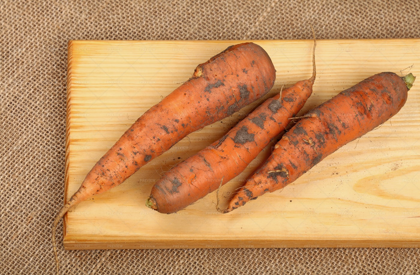Raw Dirty Carrots: Stock Photos