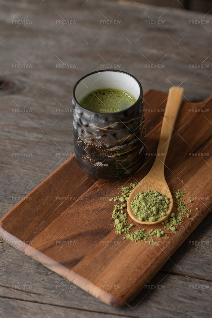 Japanese Matcha Green Tea: Stock Photos