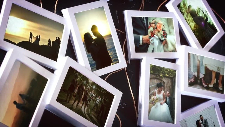 White Slideshow Wedding Frames: After Effects Templates