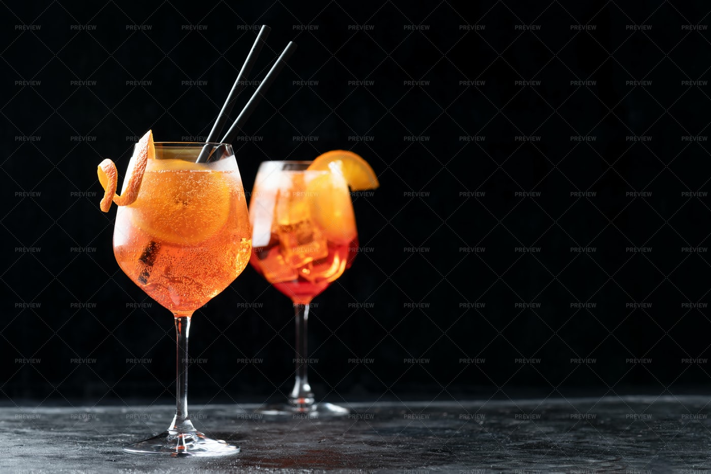 Two Glasses Of Aperol: Stock Photos