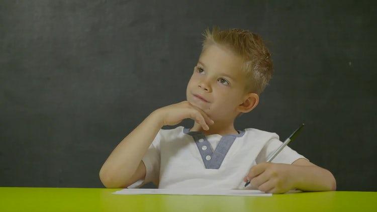 Kid In School: Stock Video