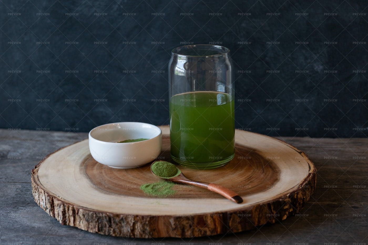 Healthy Spirulina Drink: Stock Photos