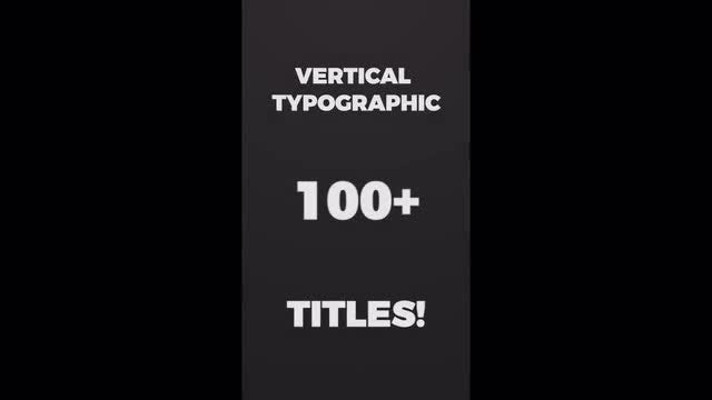 Vertical Typographic Intro: Premiere Pro Templates